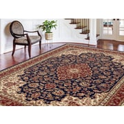 Sensation 4787 Navy Blue Traditional Area Rugs