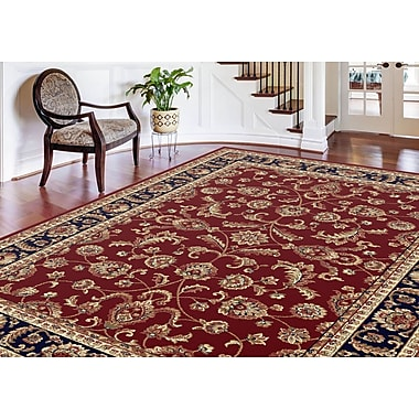Sensation 4790 Red Transitional Area Rugs