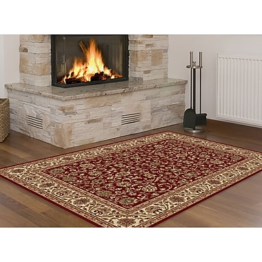 Sensation 4810 Red Transitional Area Rugs