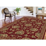 Sensation 4850 Red Traditional Area Rugs