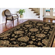 Sensation 4853 Black Traditional Area Rugs