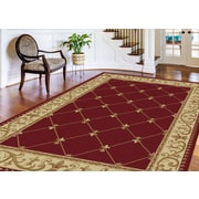 Sensation 4880 Red Traditional Area Rugs