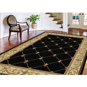 Sensation 4883 Black 2 ft. x 3 ft. Traditional Area Rug