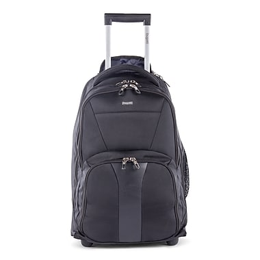 Bugatti Gregory Polyester Backpack On Wheels, Black