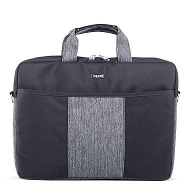 Bugatti - Mallette en polyester Matt, noir/gris (EXB529)