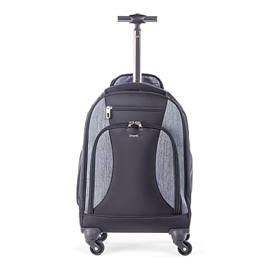 Bugatti Matt Backpack On Wheels, Black