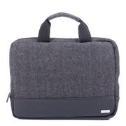 Bugatti - Serviette en polyester pour ordinateur portatif Matt, gris/noir