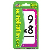 Trend Enterprises® Pocket Flash Cards, Multiplication 0 - 12