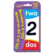 Trend Enterprises® Numbers 0 - 100 Pocket Flash Cards, Grades Kindergarten - 2nd