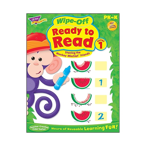 Ready to Read - Level 1 Monkey Mischief® Wipe-Off® Book, PK-K (T-94151)