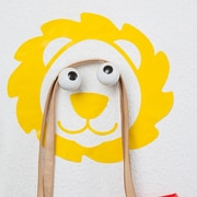 Donkey Products Hookly Leo Look Lion Decal Wall Hook