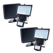 Nature Power Solar Powered Motion Activated LED 60-Light Outdoor Flood Light (Set of 2)