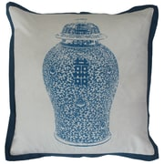 Sabira Chinese Ginger Jar Cotton Throw Pillow