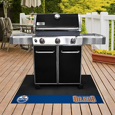 FANMATS NHL Grill Utility Mat; Edmonton Oilers