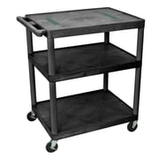 Offex Endura 3 Shelf Utility Cart; 40.25'' H x 32'' W x 24'' D