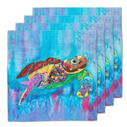 Live Free Turtle Time Fabric Coaster (Set of 4)
