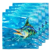 Live Free Splash the Marlin Fabric Coaster (Set of 4)
