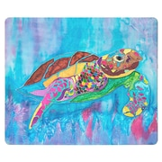 Live Free Turtle Time Glass Cutting Board