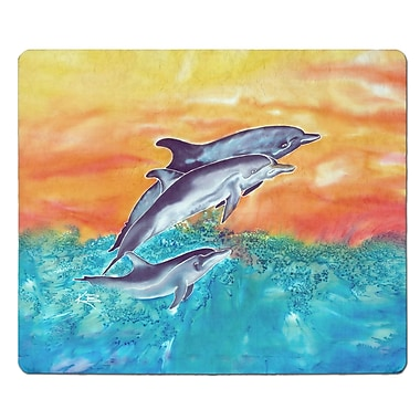 Live Free Dolphins Glass Cutting Board