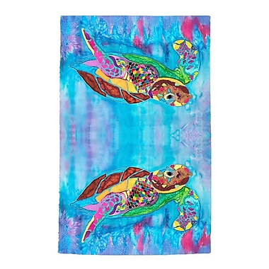 Live Free Turtle Time Full Face Hand Towel (Set of 2)