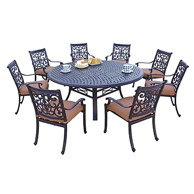 Astoria Grand Mccraney 9 Piece Dining Set w/ Cushions
