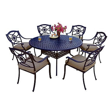 Alcott Hill Thompsontown 7 Piece Dining Set w/ Cushions