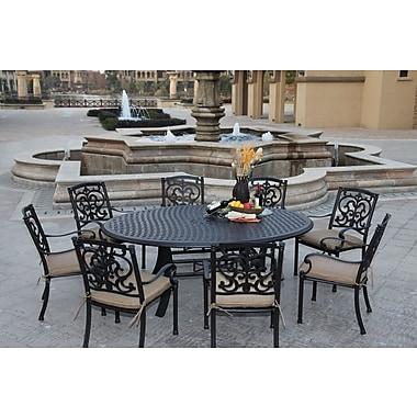Astoria Grand Palazzo Sasso 9 Piece Dining Set w/ Cushions