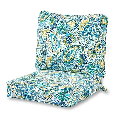 Greendale Home Fashions Outdoor Lounge Chair Seat and Back Cushion (Set of 2)