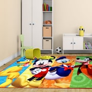 G.A. Gertmenian & Sons Disney Mickey Mouse Polyester Blue/Yellow/Orange Kids Rug