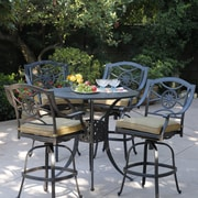 Alcott Hill Thompsontown 5 Piece Bar Set w/ Cushions by