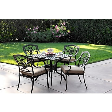 Alcott Hill Thompsontown Traditional 5 Piece Dining Set w/ Cushions
