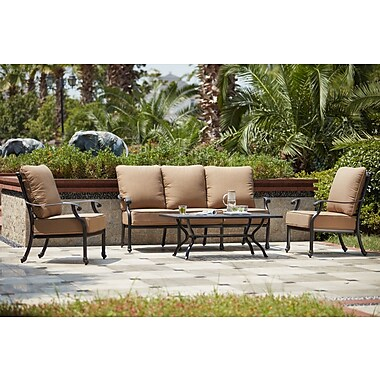 Darby Home Co Waconia 4 Piece Deep Seating Group w/ Cushions