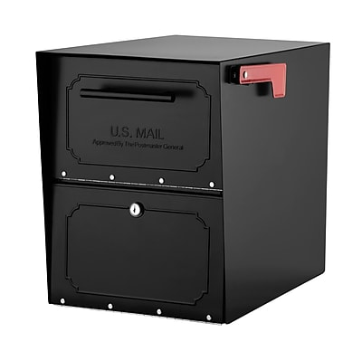 Architectural Mailboxes Oasis Locking Post Mounted Mailbox; Black