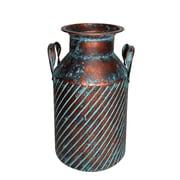 Jeco Inc. Rib Metal Table Vase w/ Holder