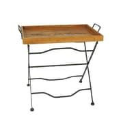 Jeco Inc. Wooden Rectangular Folding Tray Table