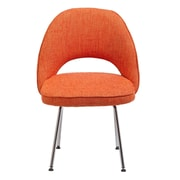 C2A Designs Eero Executive Side Metal Chair; Orange