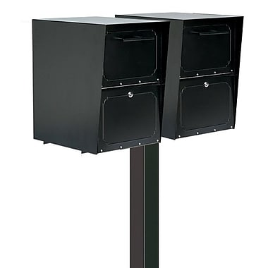 Architectural Mailboxes Oasis Locking Wall Mounted Mailbox; Black