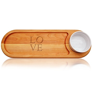 Carved Solutions Everyday Love Dip and Serve Board (Set of 3)