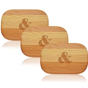 Carved Solutions Everyday Amp Sign Cutting Board (Set of 3)