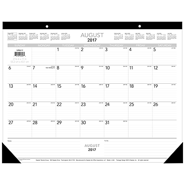 Staples® 2017/2018 Academic Year Desk Pad, 22