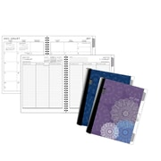 "Staples® 2017/2018 Weekly/Monthly Academic Planner, 6-7/8"" x 8-5/8"", Medallions Cover Designs, Bilingual"