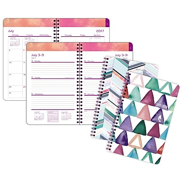 Staples® Triangle Sponge/Chevron Wash Weekly/Monthly Planner, 5-1/2