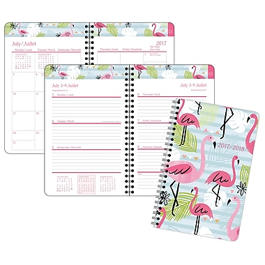 Staples® Flamengo Repeat Weekly/Monthly Planner, 5-1/2