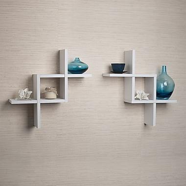 Danya B Shelves, 17x5x17 Inches, White, 2/Pack