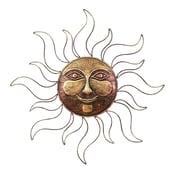 Benzara Sun Face, 30x30x2 Inches, Gold
