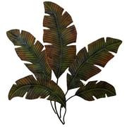 Benzara Palm Tree Leaf Decor, 34x35x1 Inches, Brown