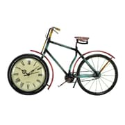 Benzara Cycle Clock, 10x16x4 Inches, Multi Color