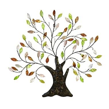 Benzara Tree Wall Art, 29x30x1 Inches, Multi Colour