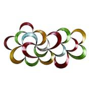 Benzara Metal Wall Art, 17x35x2 Inches, Multi Colour