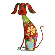 Benzara Dog Decor, 17x12x6 Inches, Multi Color